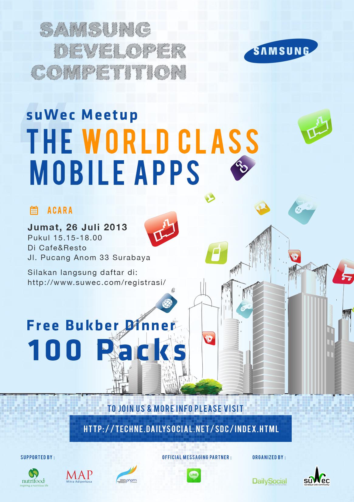 poster samsung mobile app suwec